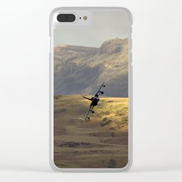 Flying over fields of gold Clear iPhone Case