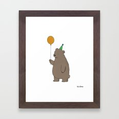 Bear Party Framed Art Print