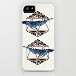 whale in the icosahedron iPhone Case