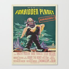 Vintage poster - Forbidden Planet Canvas Print