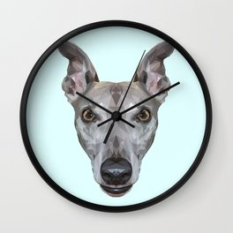 Whippet // Pastel Blue (Vespa) Wall Clock