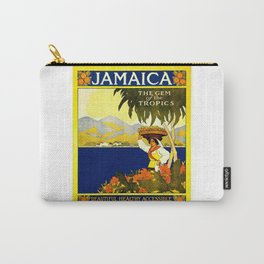 Vintage Jamaica Travel Poster Carry-All Pouch