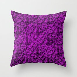 Vintage Floral Lace Leaf Dazzling Violet Throw Pillow