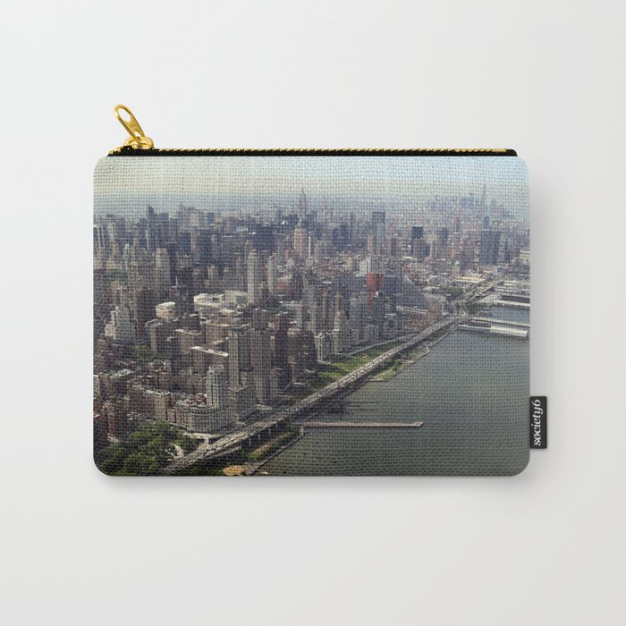 New York City Near The River Carry All Pouch By Artpics