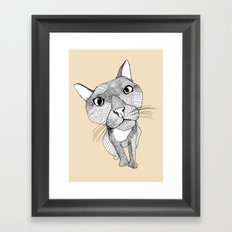 BigHead Cat Framed Art Print
