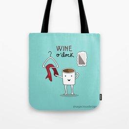 Wine O'clock Tote Bag