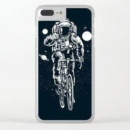 Crazy Astronaut Clear iPhone Case