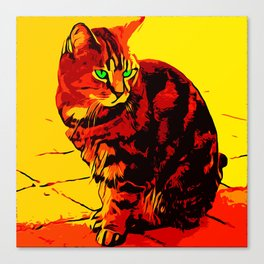 painted cat Canvas Print