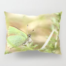 Green Butterfly In The Forest #decor #society6 Pillow Sham