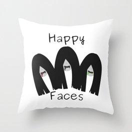 Happy faces Throw Pillow
