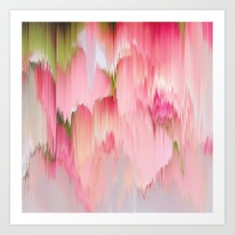 Artsy abstract blush pink watercolor brushstrokes Art Print