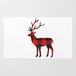 Buffalo Red Plaid Deer Rug