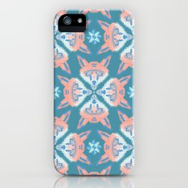 Pastel Fox Pattern iPhone Case