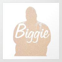 biggie Art Prints featuring Biggie by iulia pironea