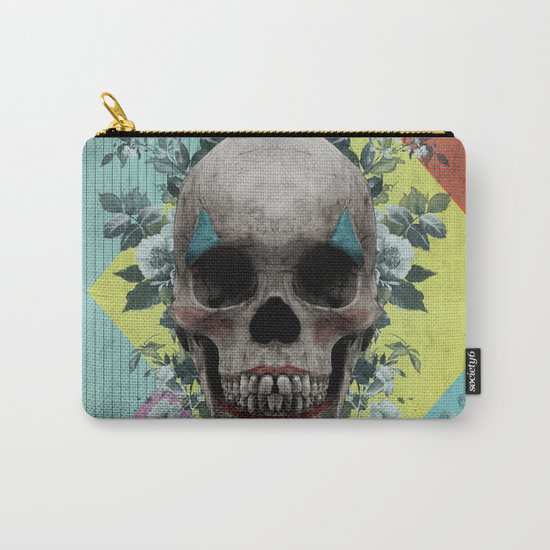 skull getting' ready for halloween but didn't quite succeed Carry-All Pouch