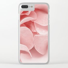 Pink flora Rose Bud- Roses and flowers Clear iPhone Case