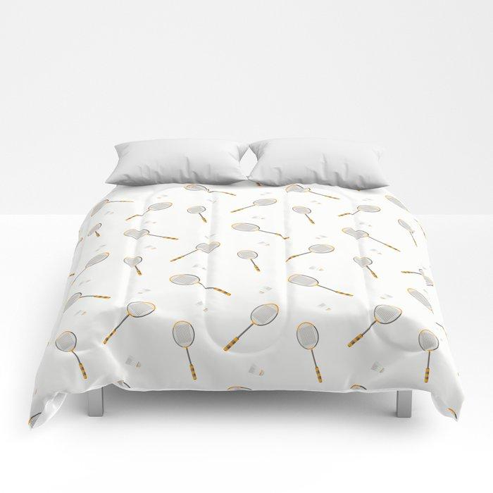Badminton sport pattern Comforters