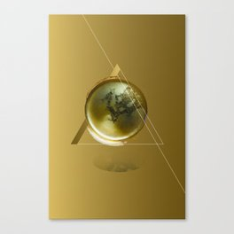 Triangular Entangled Moon Gold Canvas Print