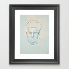 one line Scrubs:« J.D. » Dorian Framed Art Print