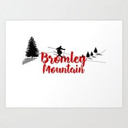 Ski at Bromley Mountain Art Print