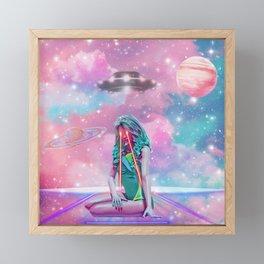 Outer-Space Laser Beam Queen  Framed Mini Art Print