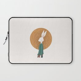 Hare on the backdrop of flowers Laptop Sleeve