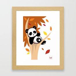 Sleepy Panda in a Tree Framed Art Print