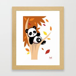 Sleepy Panda in a Tree Framed Art Print