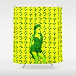 KM IP Yellow Shower Curtain