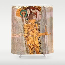 Gustav Klimt The Golden Knight Shower Curtain