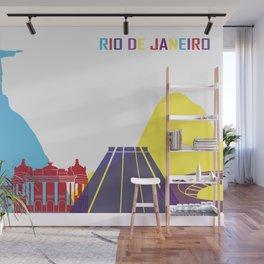 Rio de janeiro skyline pop Wall Mural