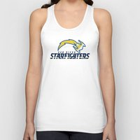 nfl Tank Tops featuring San Diego Starfighters - NFL by Steven Klock