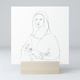 Mona Lisa Line Art Mini Art Print
