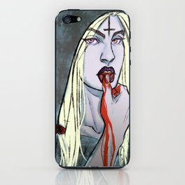 lip touch iPhone Skin