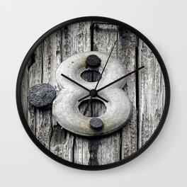 Crazy 8 Wall Clock