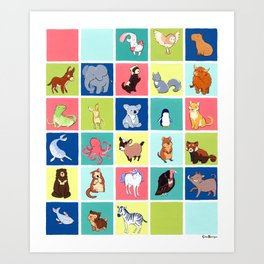 Alphabetathon: The Complete Animal Alphabet Art Print