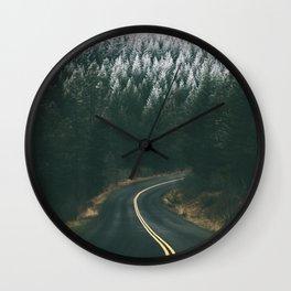 Winter Drive IV Wall Clock