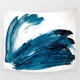 Bunny Blue Wall Tapestry