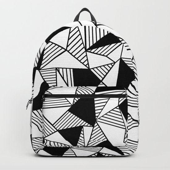 Ab Lines with Black Blocks Backpack