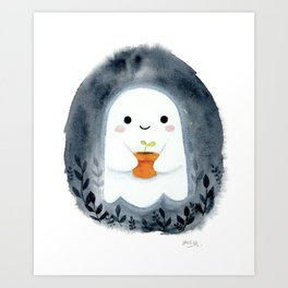 Ghost and plant Art Print