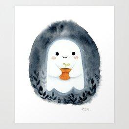 Ghost and plant Kunstdrucke