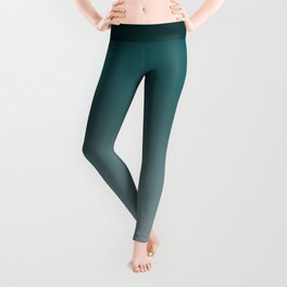 Deep Teal Gradient #2 Leggings
