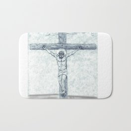 I preach Christ & Christ Crucified Bath Mat