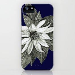 Florida Flower Navy Blue Background iPhone Case