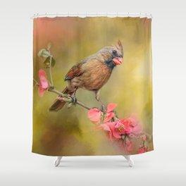 Spring Cardinal 1 Shower Curtain