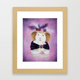 Beatrice Buttercream the Victorian Guinea Pig Framed Art Print