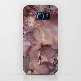 Ink Swirls Painting Lavender Plum Gold Flow iPhone Case