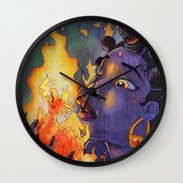 Fire Maiden Wall Clock