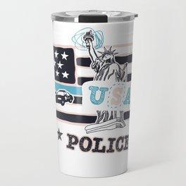 Police USA poster Travel Mug