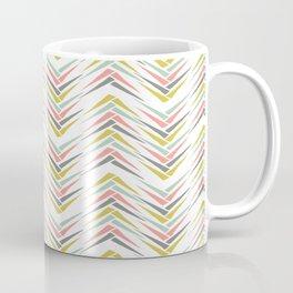 Wheat Chevron Coffee Mug